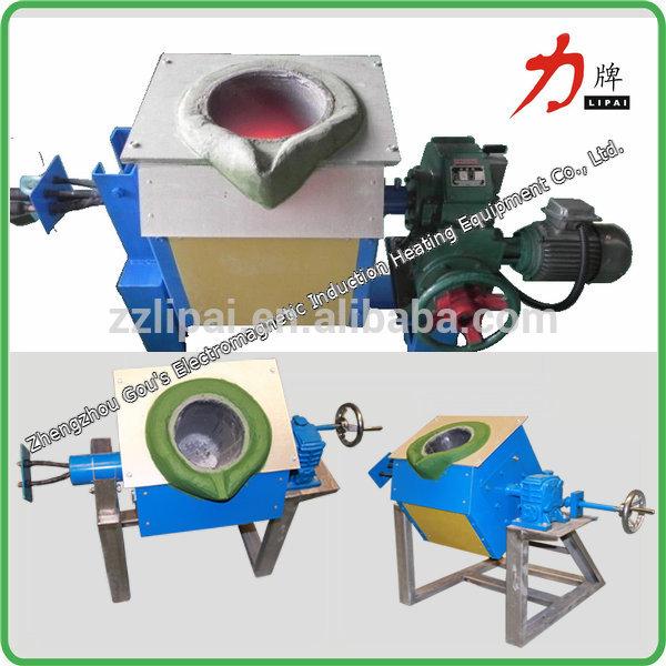 Henan China induction copper scrap/silver/gold melting furnace