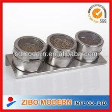 Stainless steel Salt pepper Set/glass canister