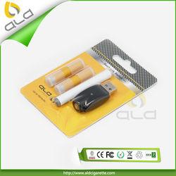 Wholesale Alibaba Manufacturer Premium E-Cigarette with 2pcs Cartomizer