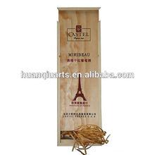 Single packing wooden wine box Pine box Pine storage vintage style