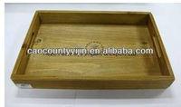 nice antique wood tea tray