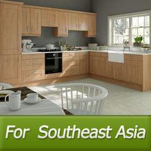 Foshan 15 years' experience export southeast Asia market manufacturer modern kitchen furniture(wood grain,melamine)