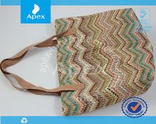 fashion woman beach straw bag