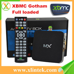 factory XBMC Gotham full loaded mx android tv box