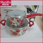 Enamel kitchenware pot sets/milk pot and sauce pan 2 sets cookware