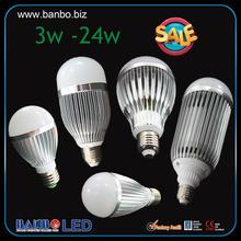 3w -24w 550 lumen led bulb low heat led light bulb