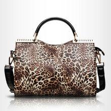 Autumn Winter Europe Fashion LEOPARD Grain Portable Female Shoulder Bag made in china