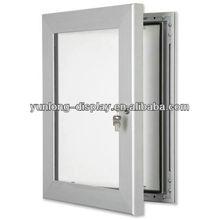 Custom Sturdy Office Key Lock Poster Case With Aluminum Frame