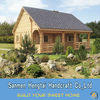 Economic small prefab house /prefabricated wooden house/ Prefab Log Homes