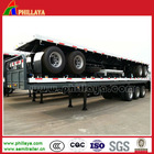 factory price 60 Ton 3 axles 40 ft flatbed trailer container twist lock / 60tons 40ft flatbed container truck trailer