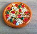 """Increíble de plástico de imitación de pizza juguete alimento artificial, De plástico de 5.5 """" modelo alimentario, Plástico postre juguetes para niños"""