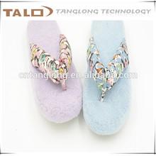 ladies floral printed flip flops,ladies light pink&blue flip flops