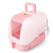 Luxury Hooded Cat Litter Box with Scoop