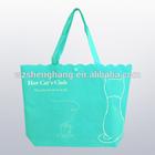 blue eco friendly non woven hand bags