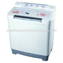 Semi-automatic. Manual. Double drum washing machine. The mini washing machine.