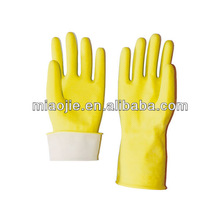 kitchen yellow flocklined household rubber gloves