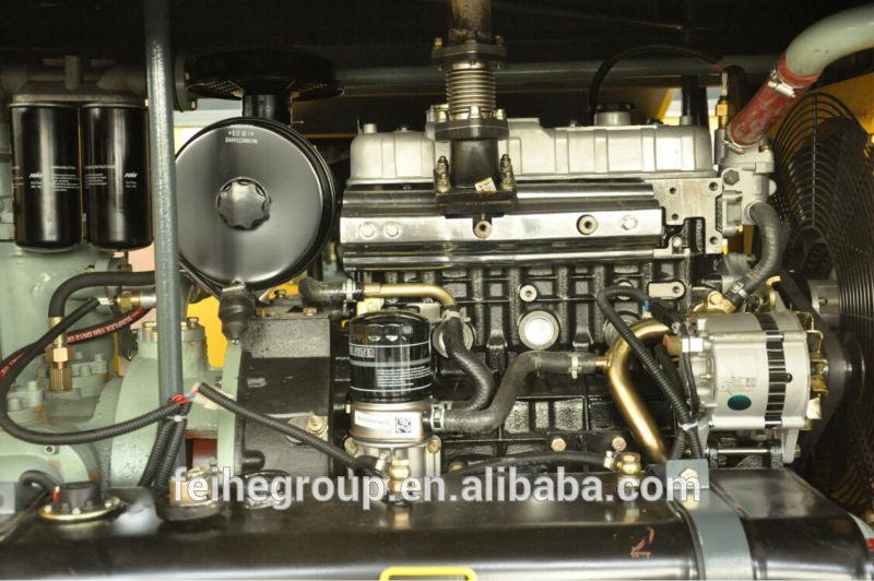 Portable diesel single screw air compressor