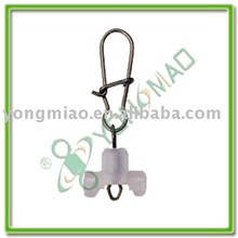 Diamond rolling swivel with Nice snap and butterfly plastic head of fishing tackle