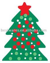 Hot sale Christmas tree shape melamine plate