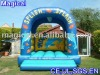 blue ocean inflatable bouncer/fish inflatable small bouncer