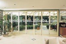 Energy efficient double glazed doors aluminum bifold door,garden entrance bifold door with rollering flyscreen