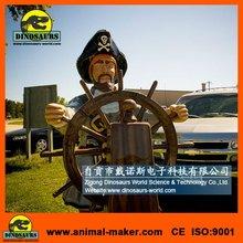 Amusement park Decoration Items Animatronic Pirate Model