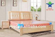 Modern style living room solid wood bed furniture set