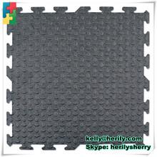 Environmentally friendly comfortable 17mmx1.83mx1.22m Rubber Interlocking Horse Stall Mat