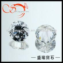 clear white round cubic zirconia brilliant cut gemstones in bulk