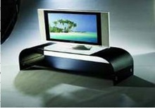 Curved glass tv stand / bent glass tv-console / living room furniture