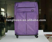 purple leisure luggage