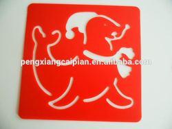 plastic drawing stencil/template