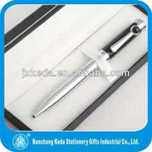 promotional shiny silver chrome pen cap metal roller pen for gift promotional