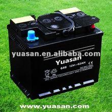 12V 62AH Yuasan Brand Dry Charged Starter Dry Car Battery Accumulators DIN62