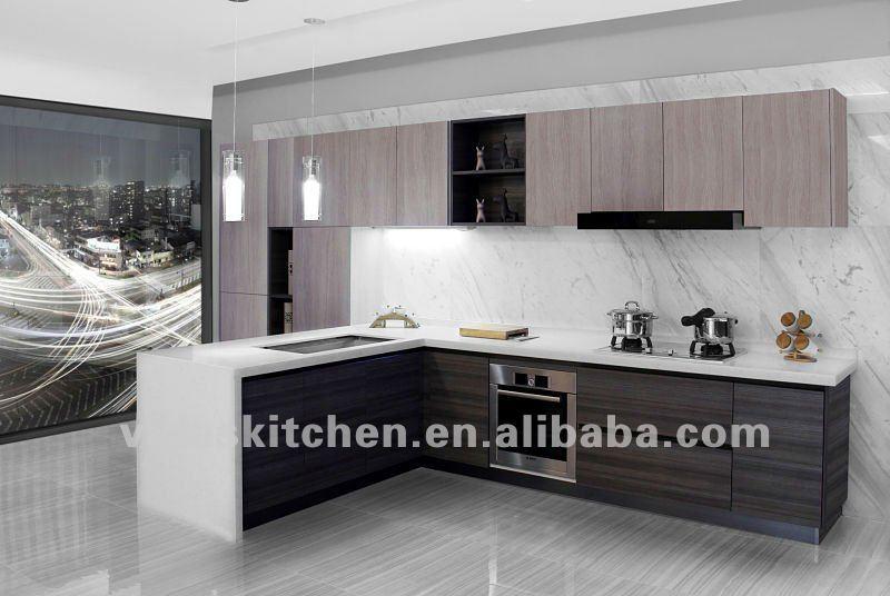 la melamina gabinetes de cocina moderna con islaCocinas