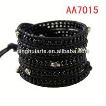 European style wrap new leather wraps for women leather Christmas decoration China Manufacturer bracelet