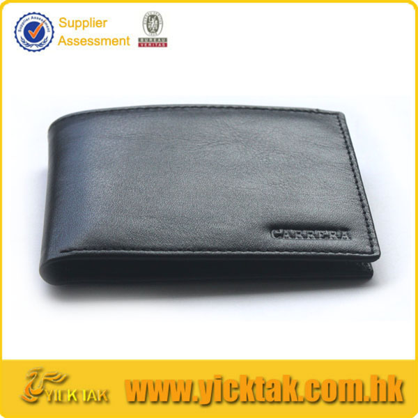 Classic Black Embossing Genuine Leather Wallet