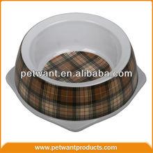 fancy dog bowl 1003-4 dog shaped pet dog bowl