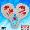 1c logo printing Natural colour beach paddle ball racket