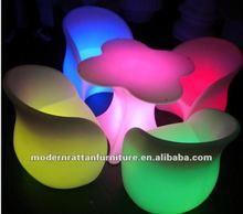 new design flash LED illuminated light furniture table chair