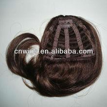 Fashion dark brown clip hair bangs/clip hair bangs/hair clip blond bang
