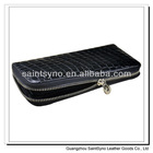 13075 Luxury lady wallet in crocodile texture real leather