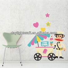 1838 fashion nursery home decal UV printing vinyl/pvc home sticker