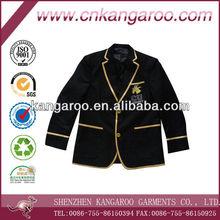 New design satin piping colleage boy club varsity blazer