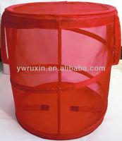 nylon laundry hamper can manufacturer/folding mesh laundry basket/mesh stackable storage bin