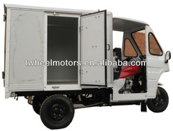Water-cooled Cargo Tricycle with closed aluminum cargo box, Adult Tricycle, Three wheel motorcycle