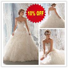 HD474 Sweetheart Beadings Latest Ruffled Layered Organza Skirt Muslim Wedding Gown