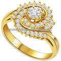 2013 nuovo design di ultima moda gioielli squisita forma rotonda matrimonio/anelli di fidanzamento con diamante grande anello