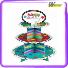 Cardboard Display Cupcake Rack for Birthday Party and Applicable to Baldy Cupcakes or Other Cupcake Brands