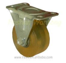 Light Duty Double Ball Bearing Polyurethane Fixed Bronze Casters
